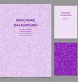 Purple triangle tile mosaic brochure template vector image