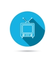 Retro tv icon Television with antenna sign vector image