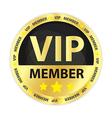 VIP Member Golden Badge vector image