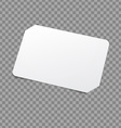White Card Template vector image