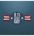Patriot Day 9-11 Emblem with Ribbon vector image