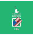 voting card on a green vector image