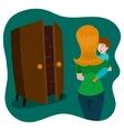 Child afraid of monsters in room cartoon vector image