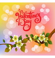 valentines day party poster design vector image vector image