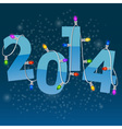 New Year card with colorful christmas garland vector image vector image