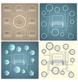 Set of creative web design templates vector image vector image