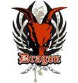 dragon skull vector image
