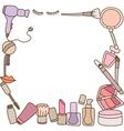 Makeup Frame vector image vector image