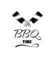 BBQ Steak vintage Label Typography letterpress vector image