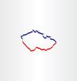 czech republic map icon vector image