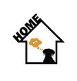 dog in home vector image