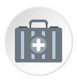 first aid kit icon circle vector image