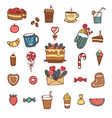 hand drawn xmas stickers collection christmas vector image