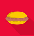 hot dog icon flat style vector image