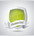 protection shield concept design security badge vector image