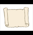 sketch of ancient scroll isolated on white vector image