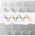 Timeline infographic with torn paper vector image