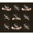 Glass labels vector image