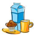 dairy breakfast vector image vector image