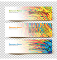 abstract banners white vector image vector image