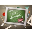 Tablet back to school Sale EPS 10 vector image