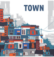 town vector image