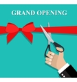 Grand opening ceremony and celebration vector image