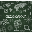chalk draw geography vector image