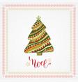 christmas card with creative christmas tree vector image