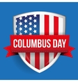 Columbus Day on USA flag shield vector image