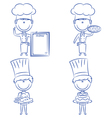 Cute chef men vector image