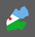 djibouti map and flag vector image