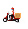 fast delivery man vector image