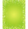 green patricks day background with shamrocks vector image