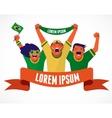 Group of Brazilian soccer fans vector image