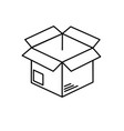 Line open box to delivery innovation vector image