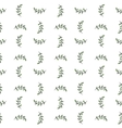 Seamless hand-drawn pattern with doodle leaves vector image
