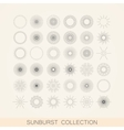 set of geometric sunburst and light ray shapes vector image