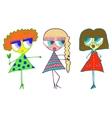 Three girls girlfriend vector image