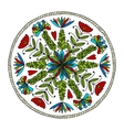Abstract ethnic round ornamental pattern vector image vector image