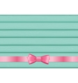 Pink Ribbon and Bow on Wooden Background for vector image