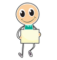 A sketch of a boy holding an empty board vector image vector image
