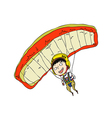 Close-up of boy playing with parachute vector image vector image