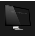 Stylish computer black screen on black background vector image