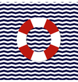 lifebouy symbol on the chevron background vector image vector image