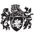 heraldic silhouette No24 vector image