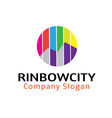 Rinbow City Design vector image