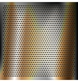 Chrome plated bronze sheet metal vector image