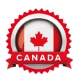 Canada flag badge vector image