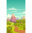 cartoon vertical nature landscape vector image